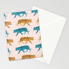Pop Tigers on blush Stationery Cards