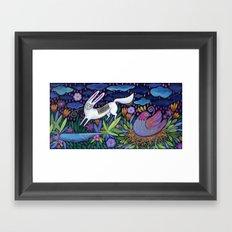 Frolic in the Forest Framed Art Print