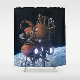 Free Floaters Shower Curtain