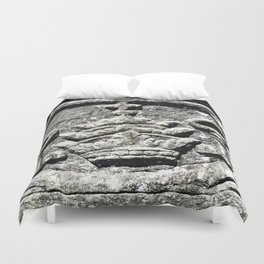 Ancient Church Carvings Duvet Cover