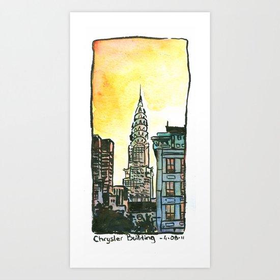 Chrysler Building - New York Art Print