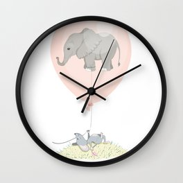 Elephant in a balloon Wall Clock