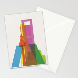 Shapes of Madrid. Accurate to scale. Stationery Cards