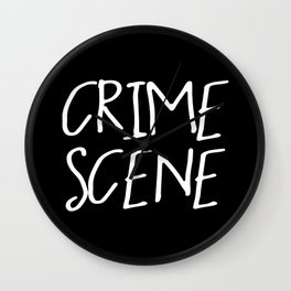 Crime Scene - Black White Wall Clock