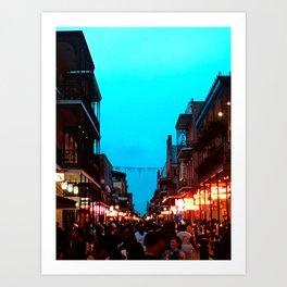 New Orleans Bourbon Street Dusk Art Print