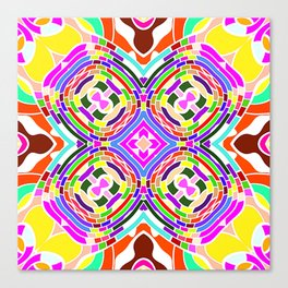 Modern Colorful abstract Pattern SB84 Canvas Print