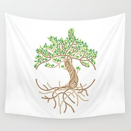 Rope Tree of Life. Rope Dojo 2017 white background Wall Tapestry