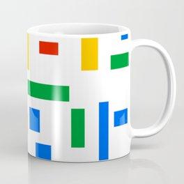 Abstract Google Art Red Green Blue Yellow on White Coffee Mug