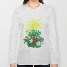 Tree 4 with Sun Long Sleeve T-shirt