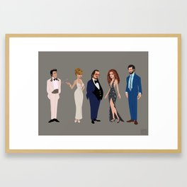 American Hustle Line Up Framed Art Print