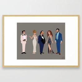 American Hustle Line Up Framed Art Print