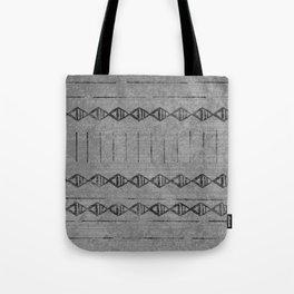 Mudcloth 2: dark gray and black Tote Bag