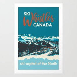 Ski Whistler Canada Art Print