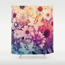 Hipster Flowers Shower Curtain
