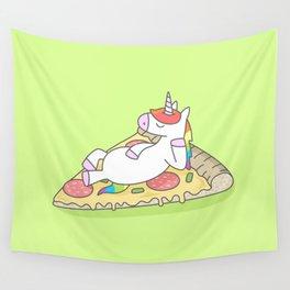 Unicorn Pizza Wall Tapestry