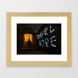 Travel More Framed Art Print