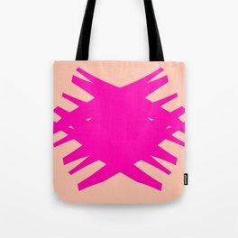 Accordian Summer X | neon pink, peach Tote Bag