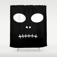horror Shower Curtains featuring Horror by The Wellington Boot
