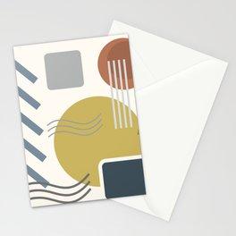 Mid Century Modern Geometric 3 #society6 #decor #buyart #artprint Stationery Cards