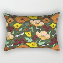Flower Petals and Bees Rectangular Pillow