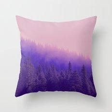 Rose Quartz Fog Throw Pillow