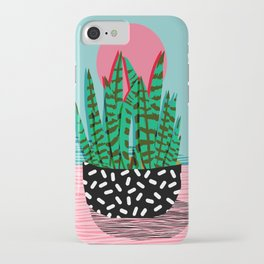 Edgy - wacka potted indoor house plant hipster retro throwback minimal 1980s 80s neon pop art iPhone Case