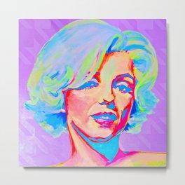 Rainbow Marilyn Metal Print