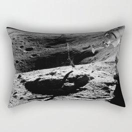 Apollo 16 - Moon Astronaut Crater Rectangular Pillow
