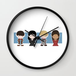 Merlin, Morgana, Arthur, Guinevere, Chibi Merlin Wall Clock