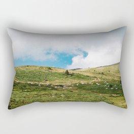 Le Troupeau des Chevaux/The Herd of Horses Rectangular Pillow