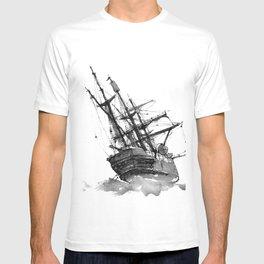 wrecked ship T-shirt