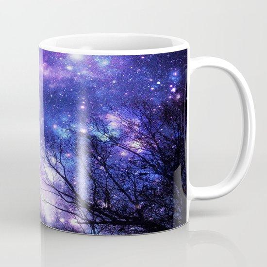 Black trees purple blue space mug by 2sweet4words designs for Blue mug designs