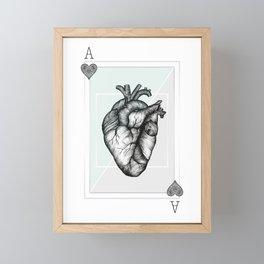 Ace Of Hearts - Mint Framed Mini Art Print
