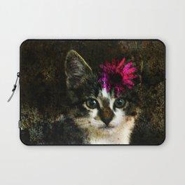 Kitten With Flower Portrait Laptop Sleeve