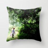 neverland Throw Pillows featuring Neverland by NishaJayne