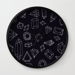 doodle crystals Wall Clock