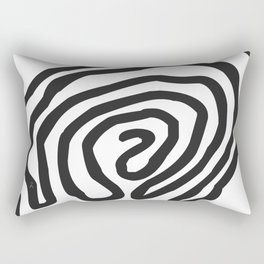 Tribal Print B&W- 06 Rectangular Pillow