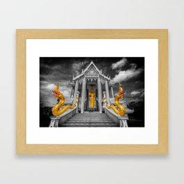 Pranburi Temple Thailand Framed Art Print