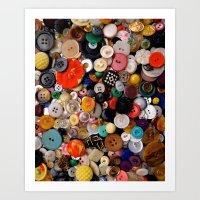 Buttons Galore! Art Print