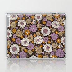 Retro floral sheet purples Laptop & iPad Skin