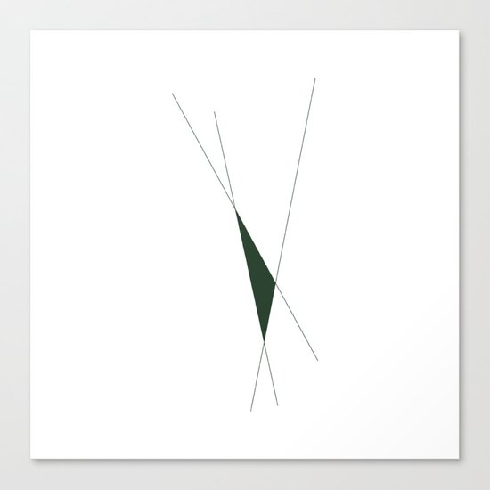 #353 Cut-out – Geometry Daily Canvas Print
