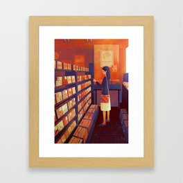 record shop Framed Art Print