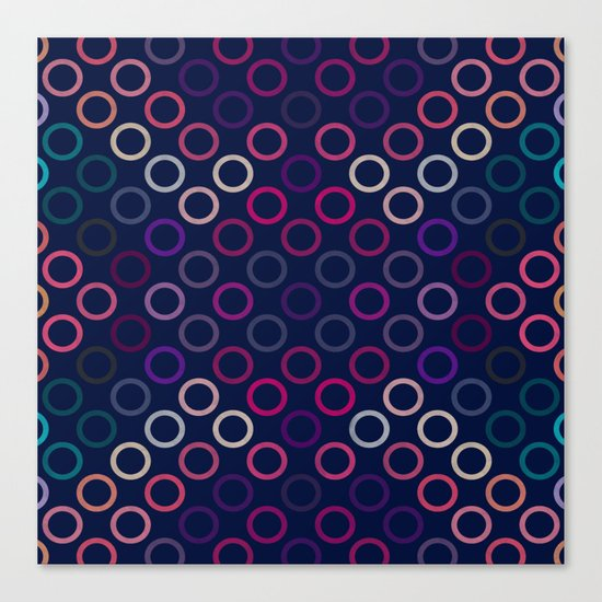 Colorful Circles VIII Canvas Print