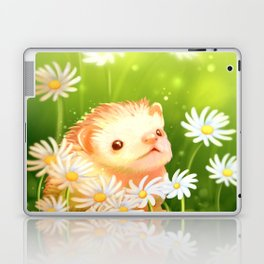 Among flowers and hedgehogs Laptop & iPad Skin