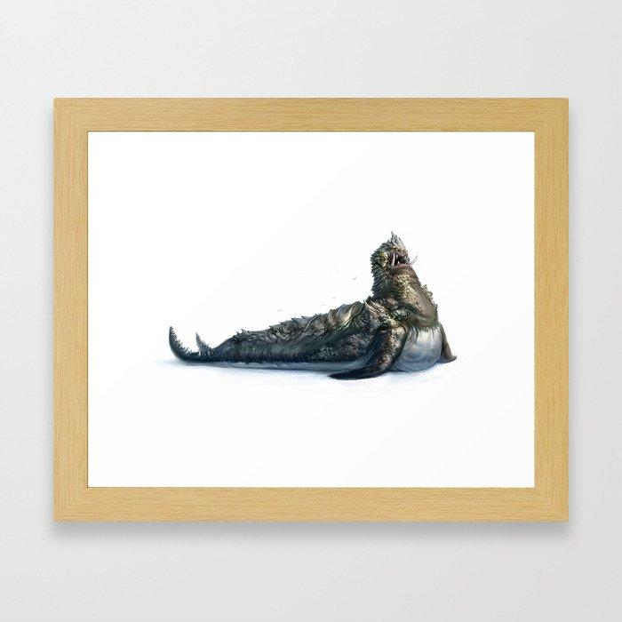 Colossal Sea Beast Framed Art Print