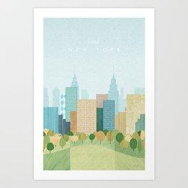 New York, Fall Art Print