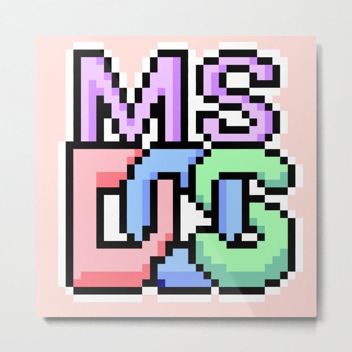 Pastel MS-DOS Metal Print
