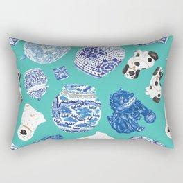 Chinoiserie Curiosity Cabinet Toss 6 Rectangular Pillow