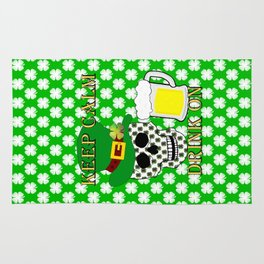 Keep Calm Drink On - St Patrick Day Rug