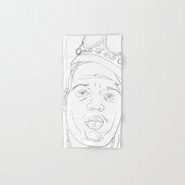 Notorious BIG, portrait, line drawing, Biggy Smalls Hand & Bath Towel